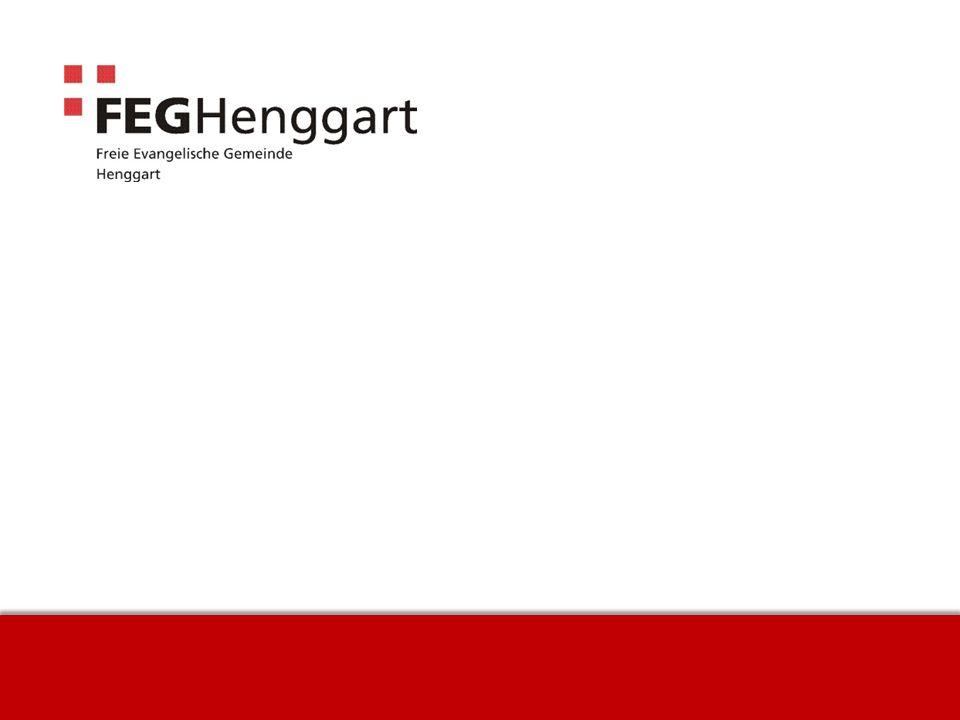 Freie Evangelische Gemeinde | Seewadelstrasse 14 | 8444 Henggart | | www.feg-henggart.ch ALLES EINE FRAGE DER ZEIT 1.
