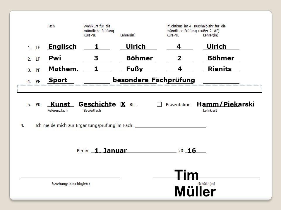 Englisch 1 Ulrich 4 Ulrich Pwi 3 Böhmer 2 Böhmer Mathem.