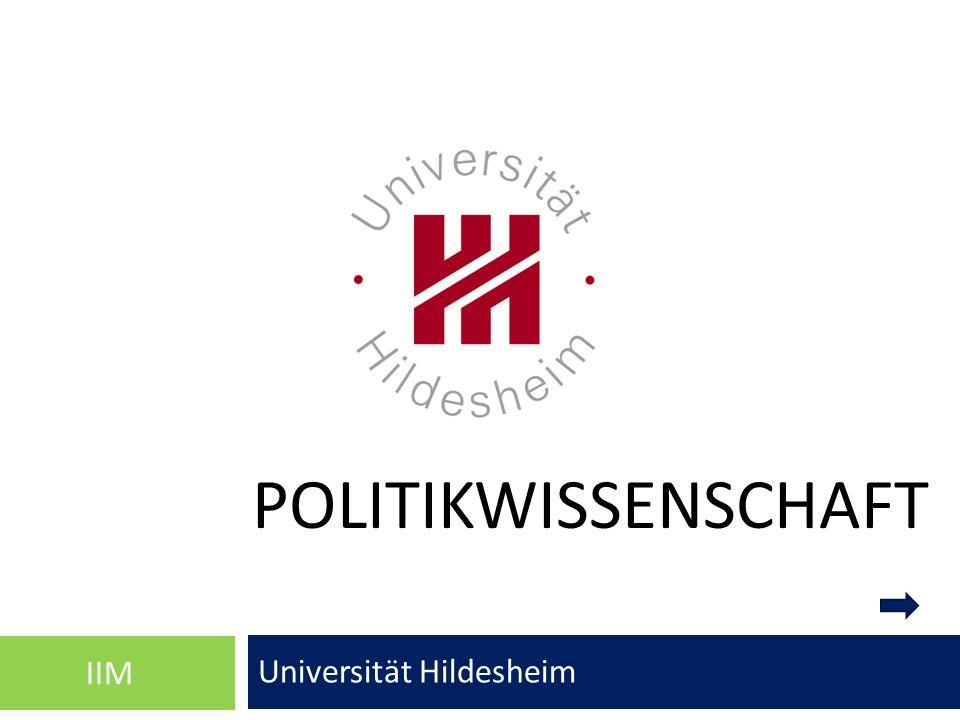 POLITIKWISSENSCHAFT Universität Hildesheim IIM