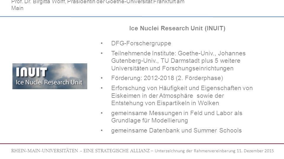RHEIN-MAIN-UNIVERSITÄTEN – EINE STRATEGISCHE ALLIANZ – Unterzeichnung der Rahmenvereinbarung 11.