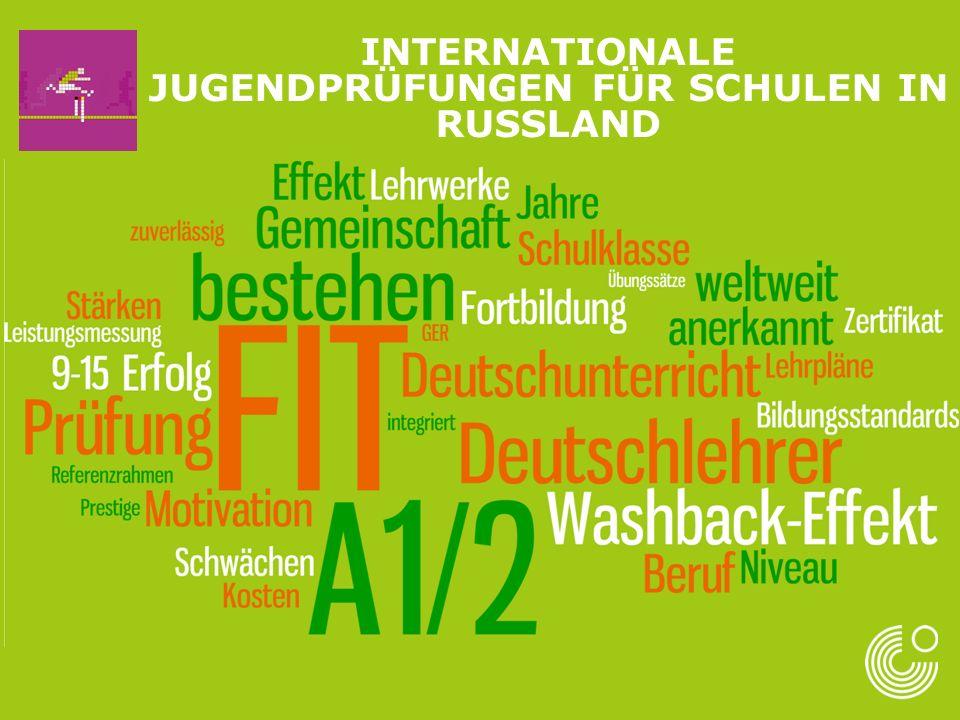 Mehr Information: Fit in Deutsch 1: http://www.goethe.de/ins/ru/lp /lhr/exz/pfs/de9303579.htm http://www.goethe.de/ins/ru/lp /lhr/exz/pfs/de9303579.htm Fit in Deutsch 2: http://www.goethe.de/ins/ru/lp /lhr/exz/pfs/de9303852.htm http://www.goethe.de/ins/ru/lp /lhr/exz/pfs/de9303852.htm INTERNATIONALE JUGENDPRÜFUNGEN FÜR SCHULEN IN RUSSLAND