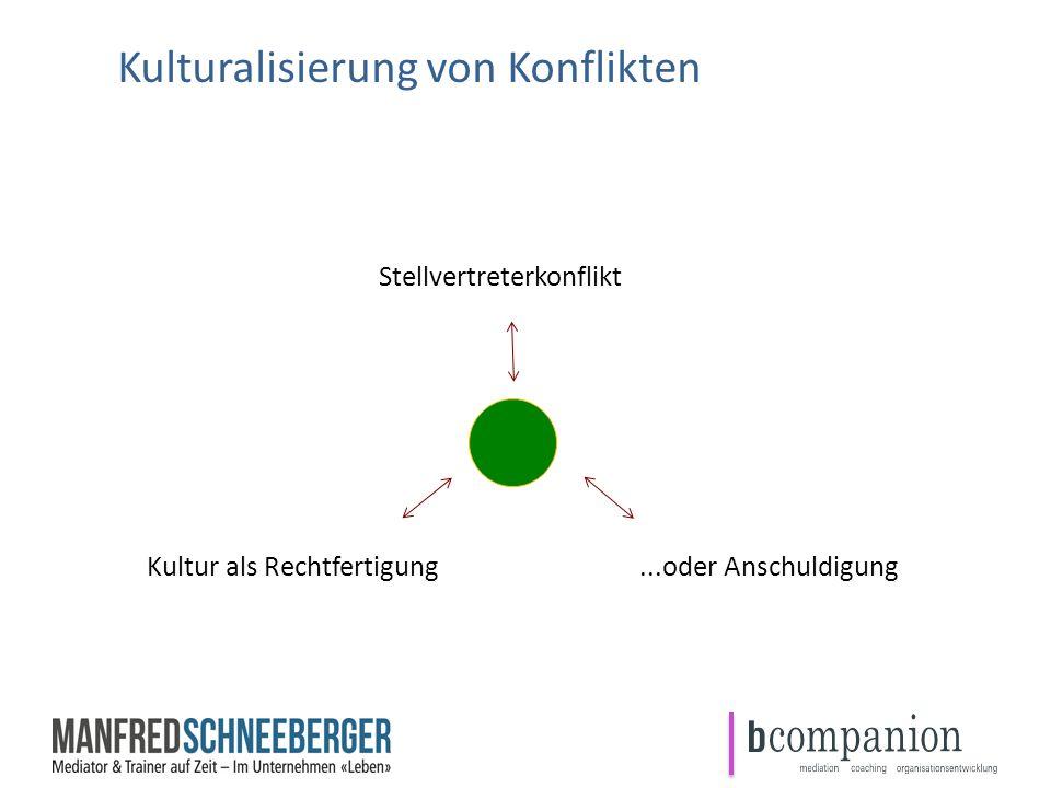 Kulturalisierung von Konflikten I. Endres Stellvertreterkonflikt Kultur als Rechtfertigung...oder Anschuldigung