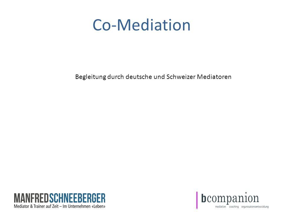 Begleitung durch deutsche und Schweizer Mediatoren Co-Mediation