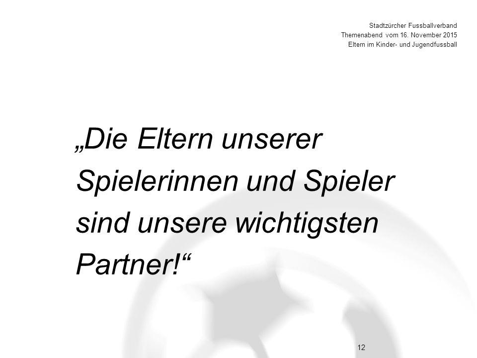 12 Stadtzürcher Fussballverband Themenabend vom 16.