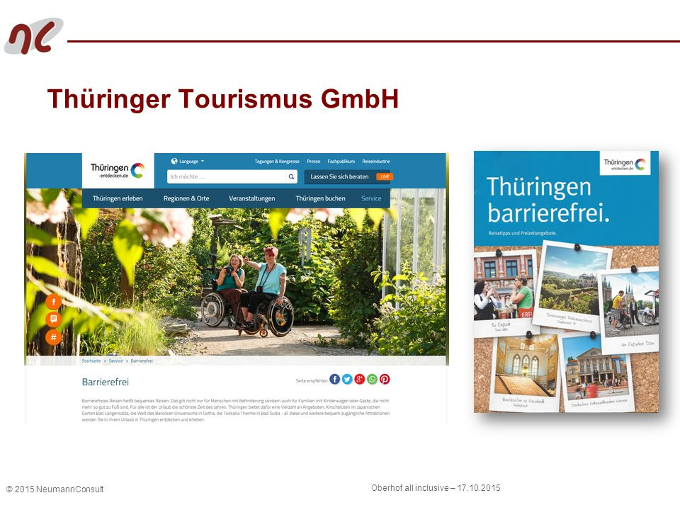 © 2015 NeumannConsult Oberhof all inclusive – 17.10.2015 Thüringer Tourismus GmbH