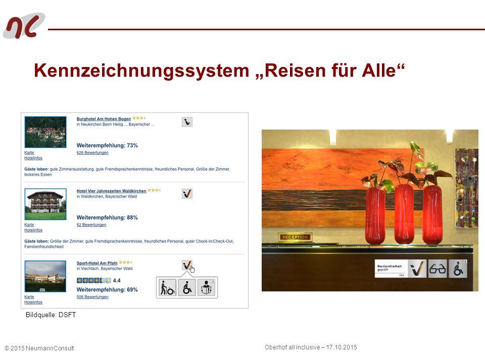 """© 2015 NeumannConsult Oberhof all inclusive – 17.10.2015 Kennzeichnungssystem """"Reisen für Alle"""" Bildquelle: DSFT"""
