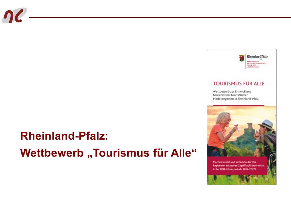 """Rheinland-Pfalz: Wettbewerb """"Tourismus für Alle"""