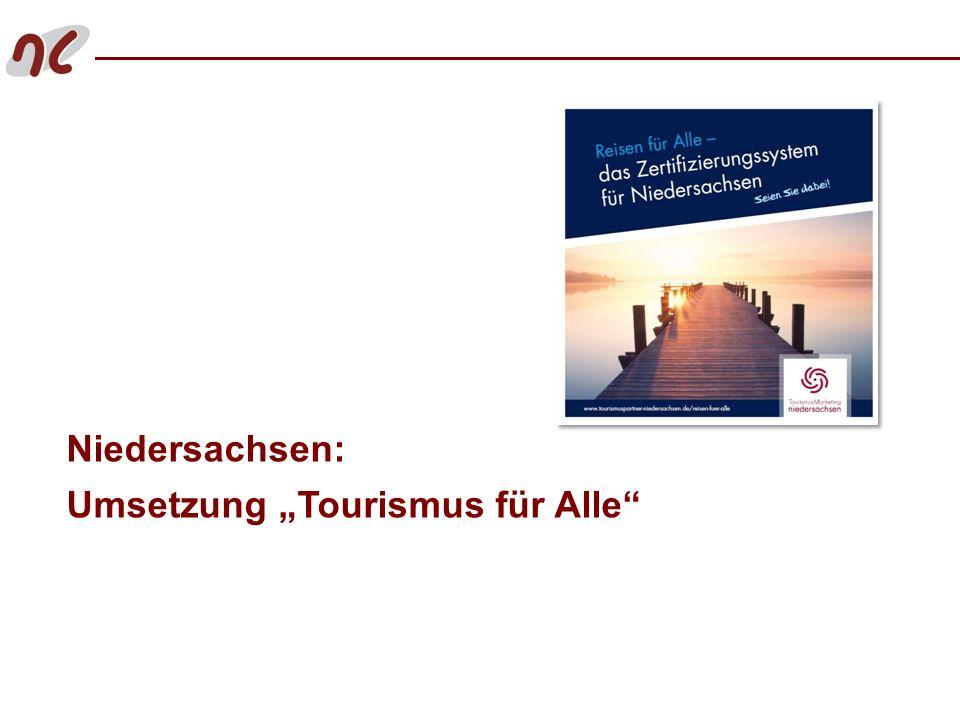 """Niedersachsen: Umsetzung """"Tourismus für Alle"""