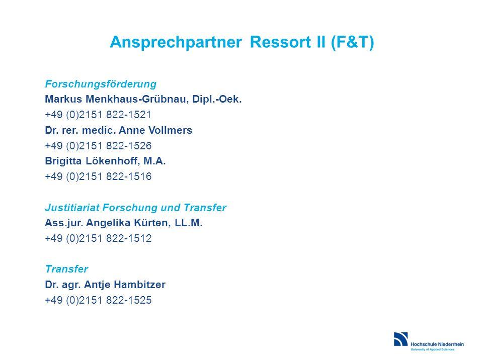 Forschungsförderung Markus Menkhaus-Grübnau, Dipl.-Oek. +49 (0)2151 822-1521 Dr. rer. medic. Anne Vollmers +49 (0)2151 822-1526 Brigitta Lökenhoff, M.