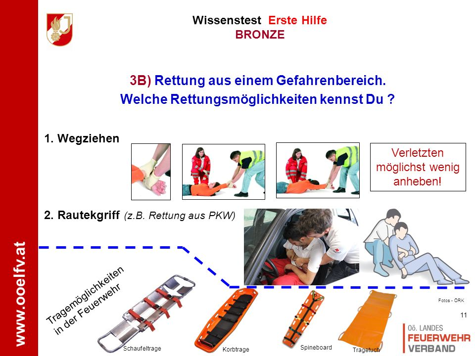 www.ooelfv.at Wissenstest Erste Hilfe BRONZE 1.Wo ist der Unfall .