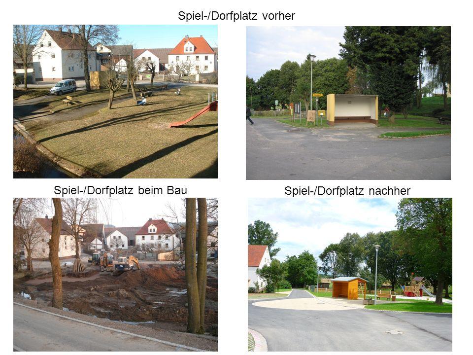 Spiel-/Dorfplatz vorher Spiel-/Dorfplatz nachher Spiel-/Dorfplatz beim Bau