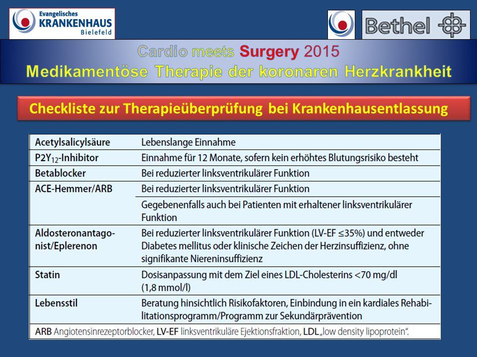 Checkliste zur Therapieüberprüfung bei Krankenhausentlassung