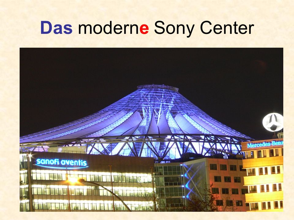 Das moderne Sony Center