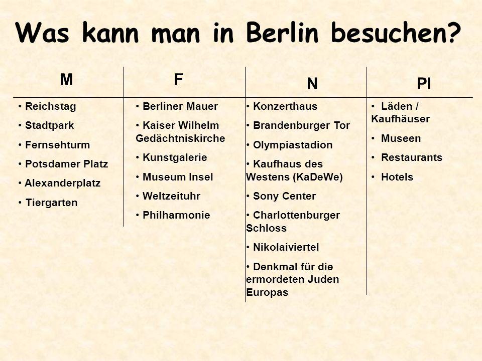 Was kann man in Berlin besuchen.
