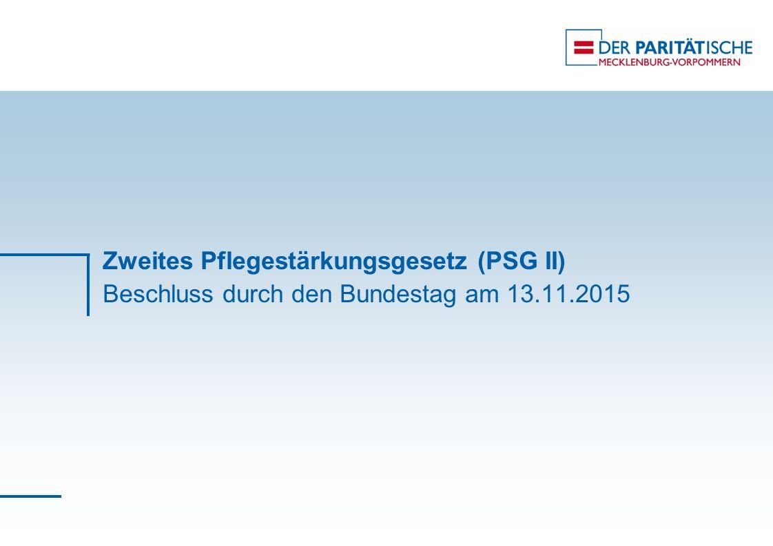 Zweites Pflegestärkungsgesetz (PSG II) Beschluss durch den Bundestag am 13.11.2015