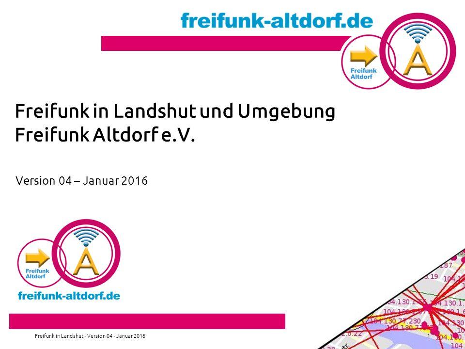 Freifunk in Landshut und Umgebung Freifunk Altdorf e.V.
