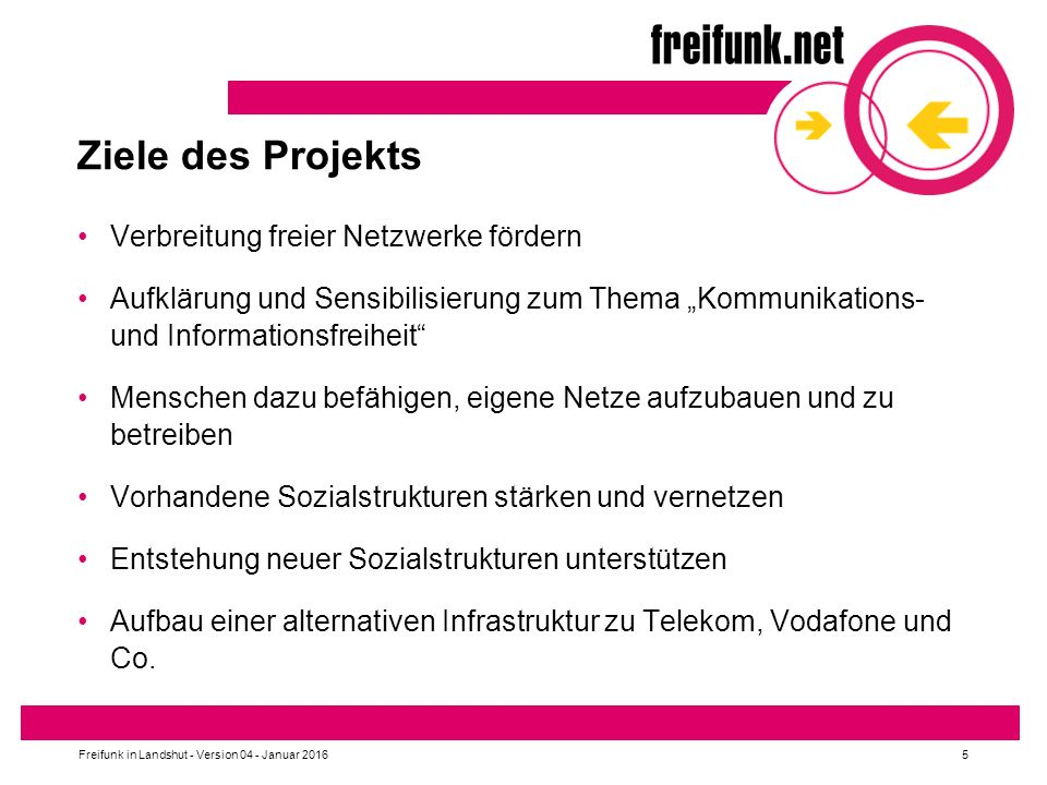 Freifunk in Landshut - Version 04 - Januar 2016 16 Freifunk Altdorf Knotenkarte https://map.tecff.de/