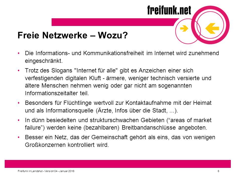 Freie Netzwerke – Wozu.