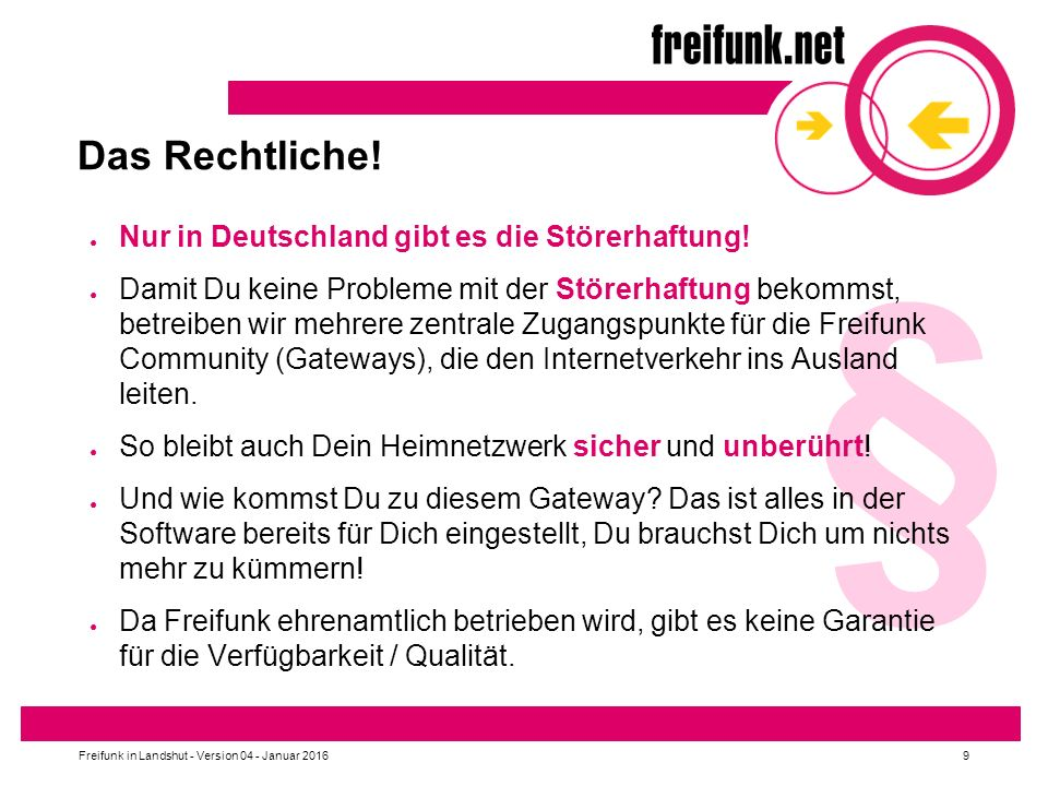 Freifunk in Landshut - Version 04 - Januar 201620 Wie funktioniert Freifunk.