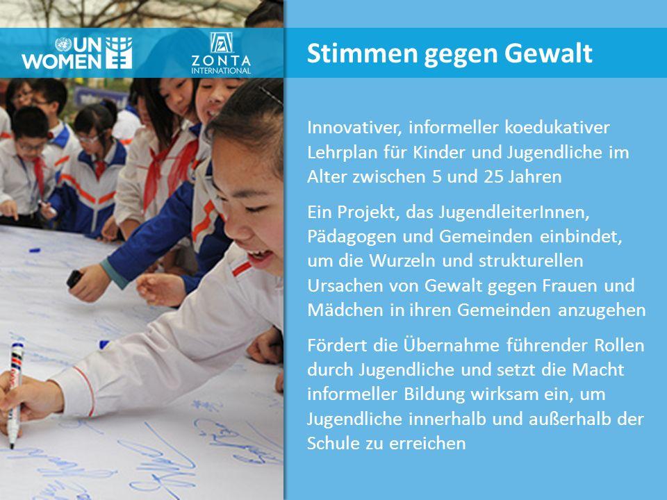 Innovativer, informeller koedukativer Lehrplan für Kinder und Jugendliche im Alter zwischen 5 und 25 Jahren Ein Projekt, das JugendleiterInnen, Pädago