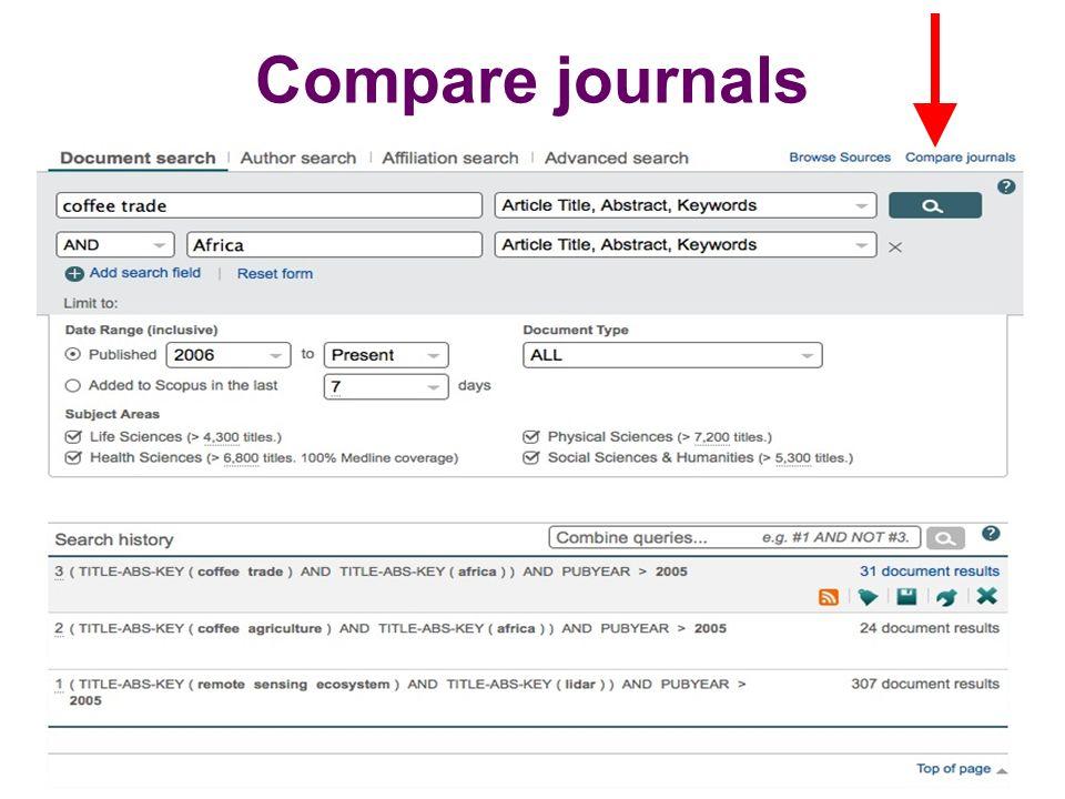 Compare journals