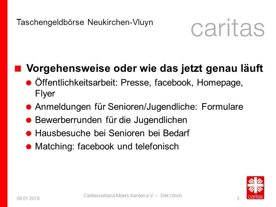 Taschengeldbörse Neukirchen-Vluyn 09.01.2016 Caritasverband Moers-Xanten e.V.