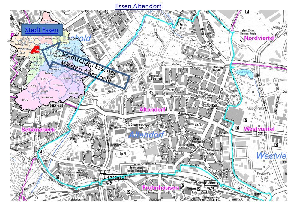 Essen Altendorf Stadtteil im Essener Westen / Bezirk III Stadt Essen