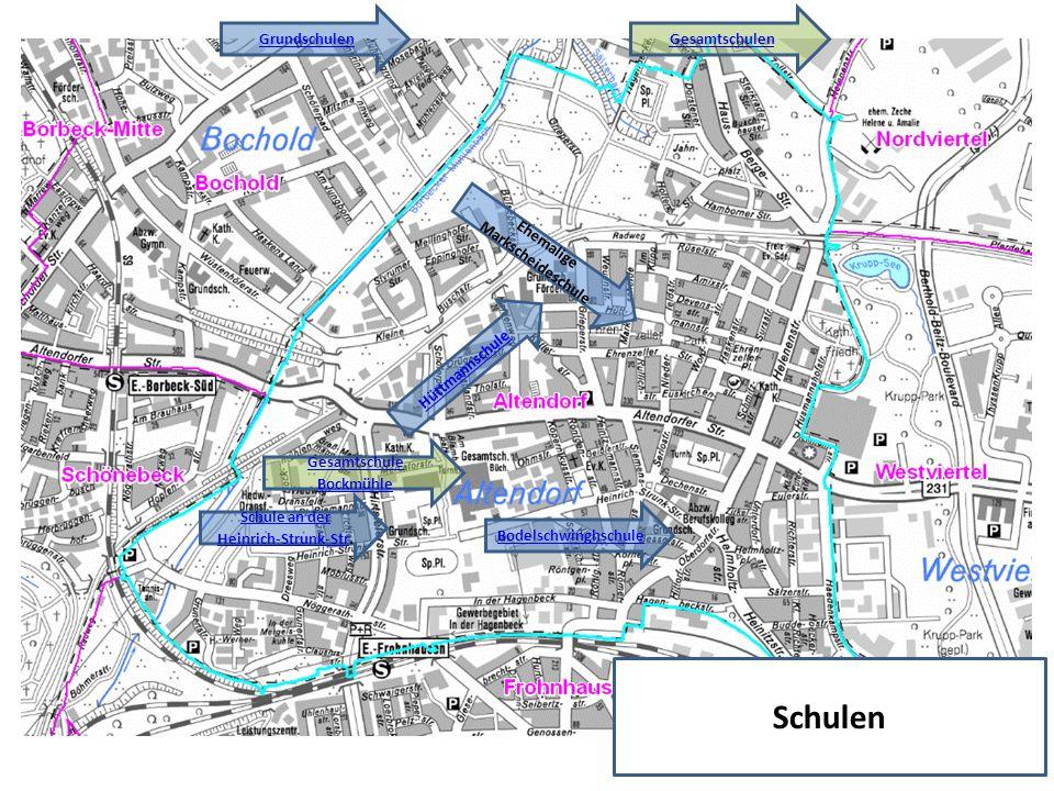 Schulen GrundschulenGesamtschulen Bodelschwinghschule Schule an der Heinrich-Strunk-StrSchule an der Heinrich-Strunk-Str.