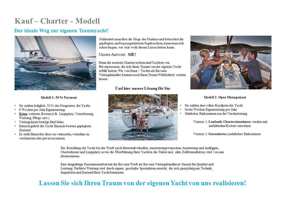 Unsere Antwort: SIE! Denn die meisten Charteryachten sind Yachten von Privatpersonen, die sich ihren Traum von der eigenen Yacht erfüllt haben. Wir vo