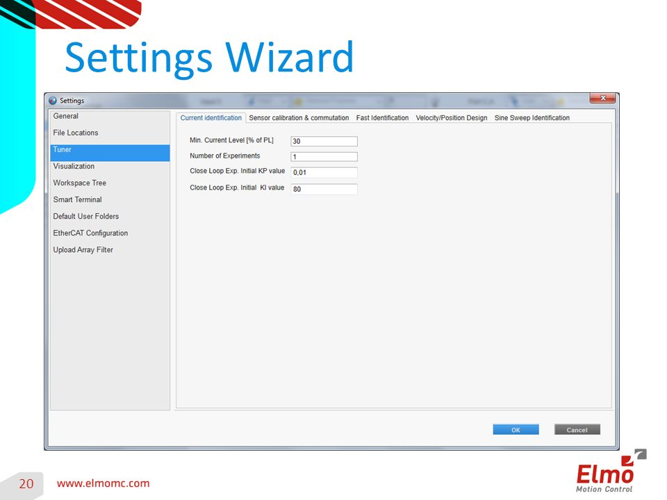 Settings Wizard 20