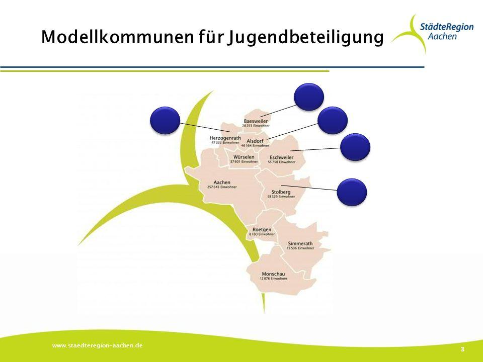 Modellkommunen für Jugendbeteiligung www.staedteregion-aachen.de 3