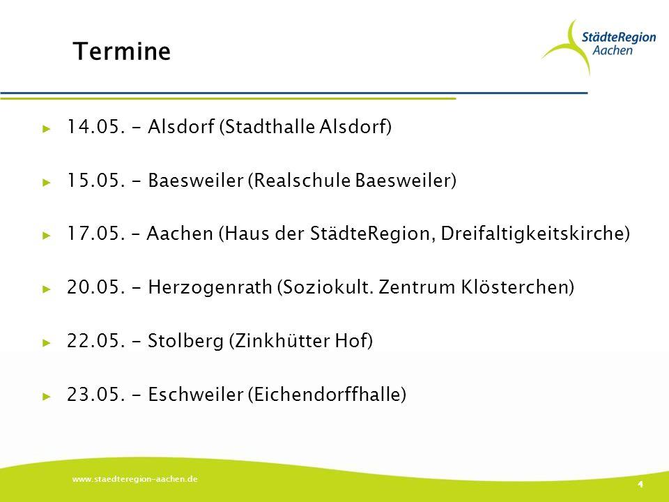 Termine ▶ 14.05. - Alsdorf (Stadthalle Alsdorf) ▶ 15.05.