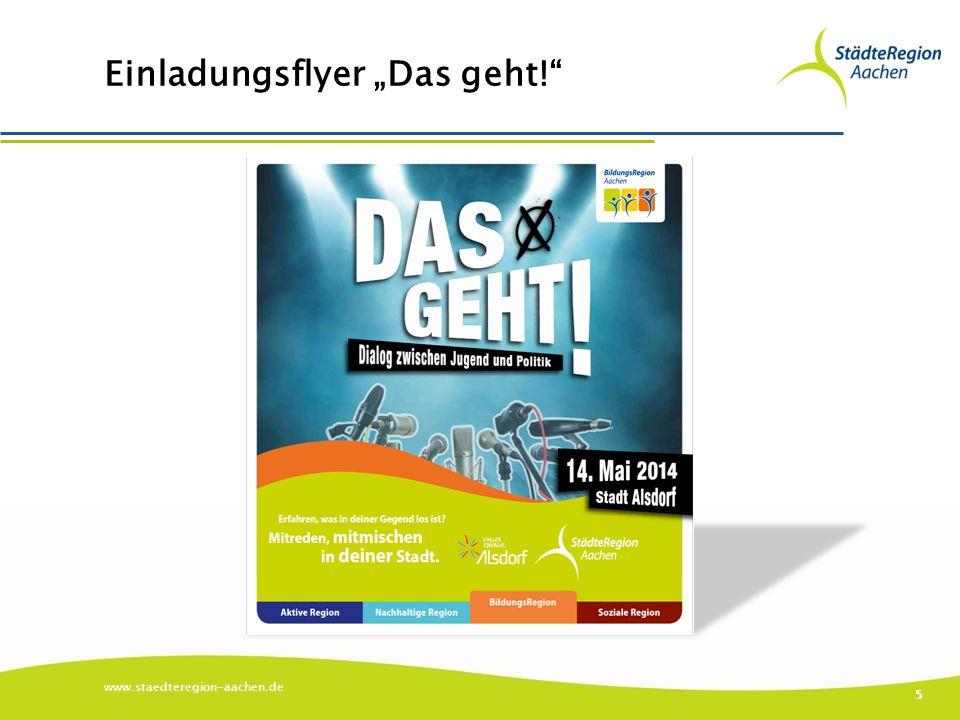 """Einladungsflyer """"Das geht! www.staedteregion-aachen.de 5"""