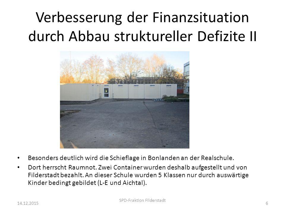 Regionale Schulentwicklung ist überfällig 14.12.2015 SPD-Fraktion Filderstadt 7