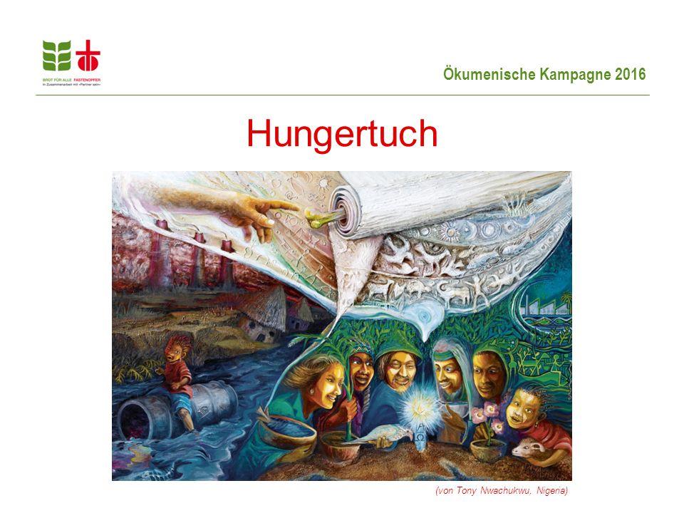 Ökumenische Kampagne 2016 Hungertuch (von Tony Nwachukwu, Nigeria)