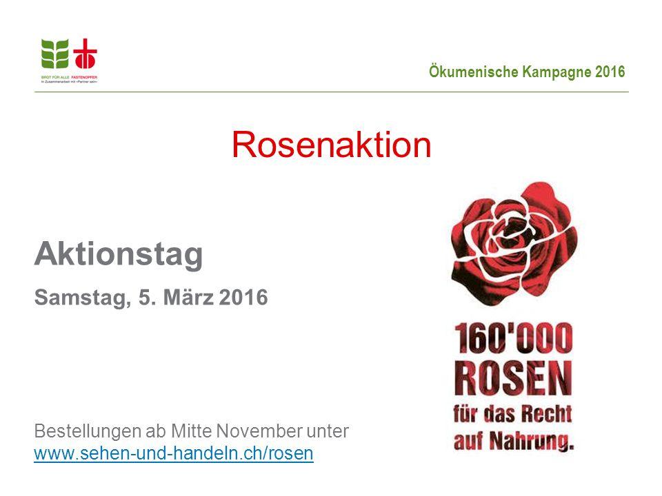 Ökumenische Kampagne 2016 Aktionstag Samstag, 5.