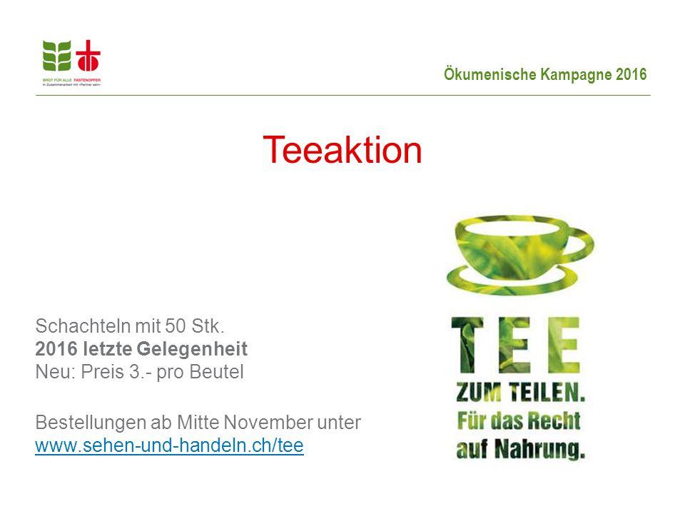Ökumenische Kampagne 2016 Schachteln mit 50 Stk.