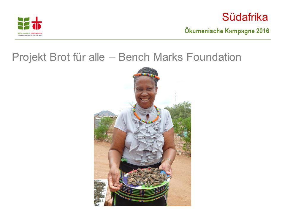 Ökumenische Kampagne 2016 Projekt Brot für alle – Bench Marks Foundation Südafrika