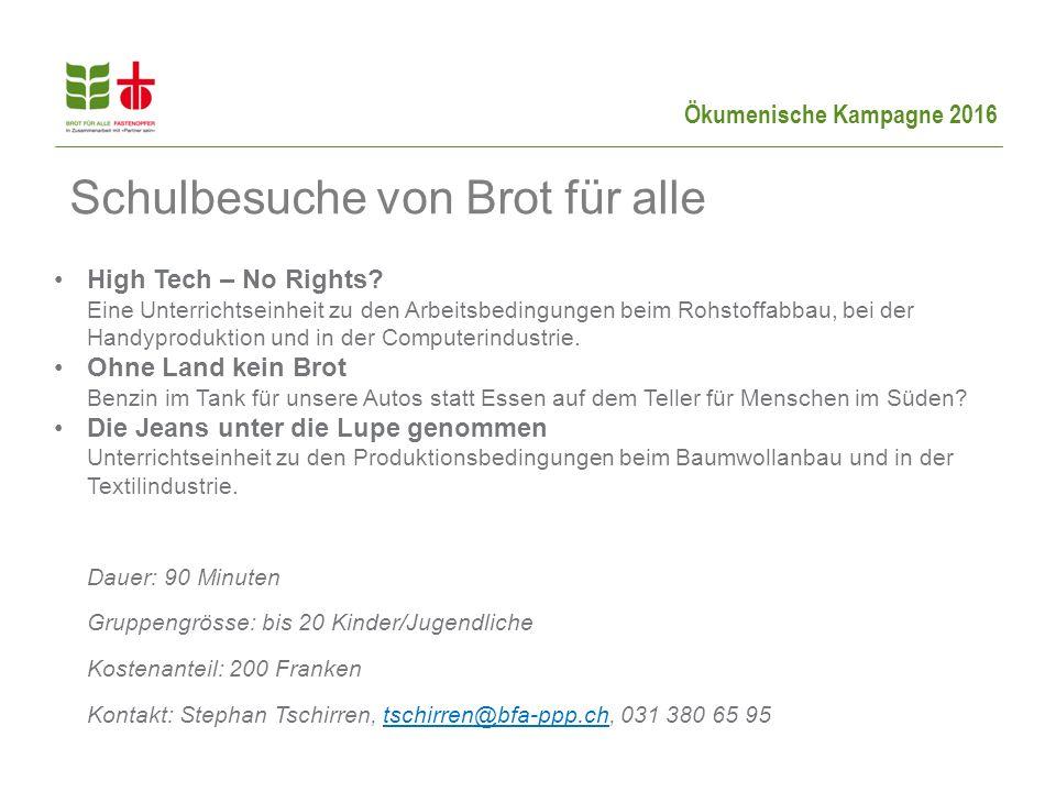 Ökumenische Kampagne 2016 High Tech – No Rights.