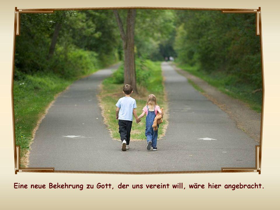 Denn wenn wir mit Jesus vereint sein wollen, wäre es widersinnig, dass wir untereinander gespalten sind, weil jeder seine eigenen Wege geht, weil wir einander verurteilen und womöglich ausschließen.