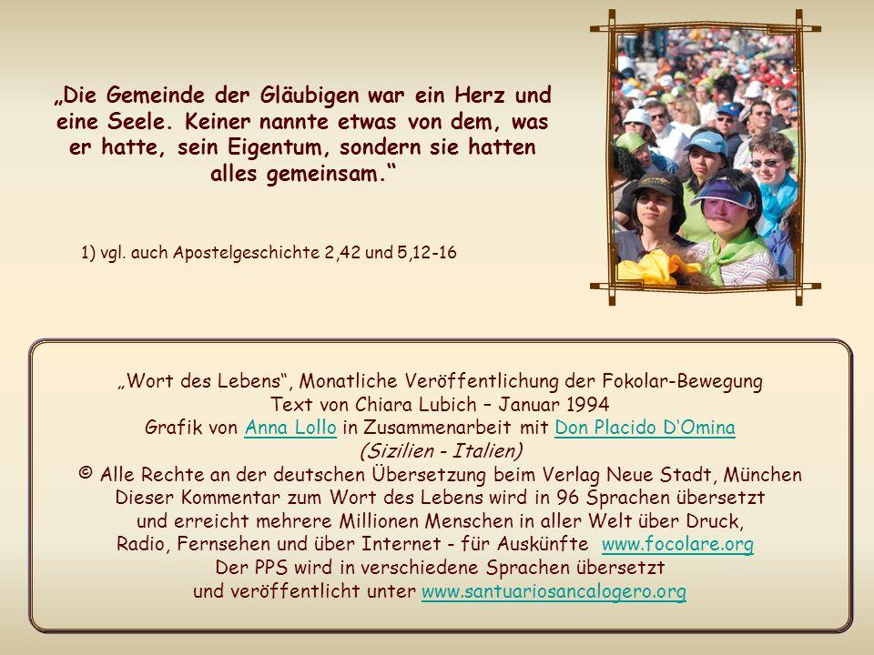 In diesem Monat begehen wir die Weltgebetswoche für die Einheit der Christen.