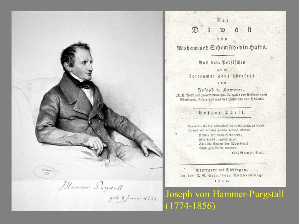 Johann Peter Eckermann: Platen, Neue Ghaselen (1823), in Goethes Über Kunst und Alterthum, IV Es haben uns diese Ghaselen schönen Genuß gewährt und es läßt sich von ihnen viel Gute sagen.