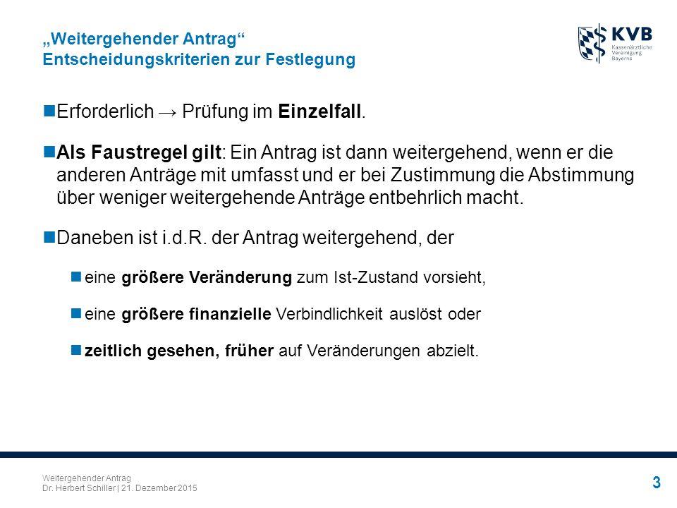 Weitergehender Antrag Dr.Herbert Schiller | 21.