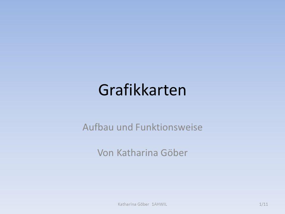 Grafikkarten Aufbau und Funktionsweise Von Katharina Göber 1/11Katharina Göber 1AHWIL