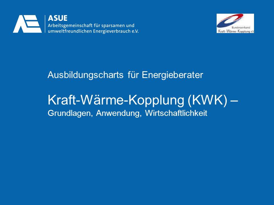 Ausbildungscharts für Energieberater Kraft-Wärme-Kopplung (KWK) – Grundlagen, Anwendung, Wirtschaftlichkeit