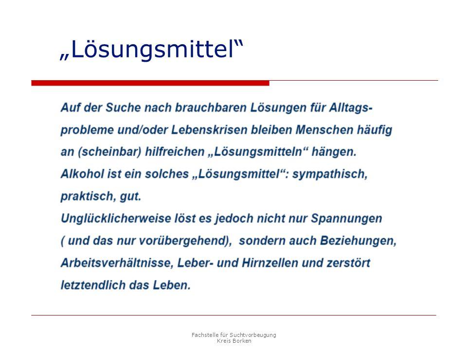 """Fachstelle für Suchtvorbeugung Kreis Borken """"Lösungsmittel"""