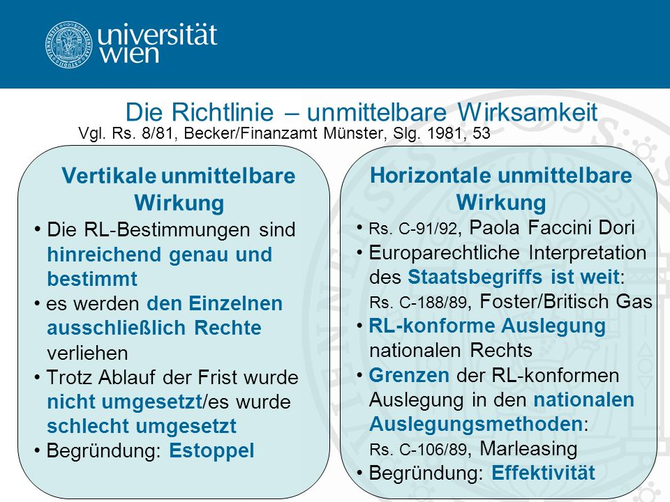 26 Vgl.Rs. 8/81, Becker/Finanzamt Münster, Slg.