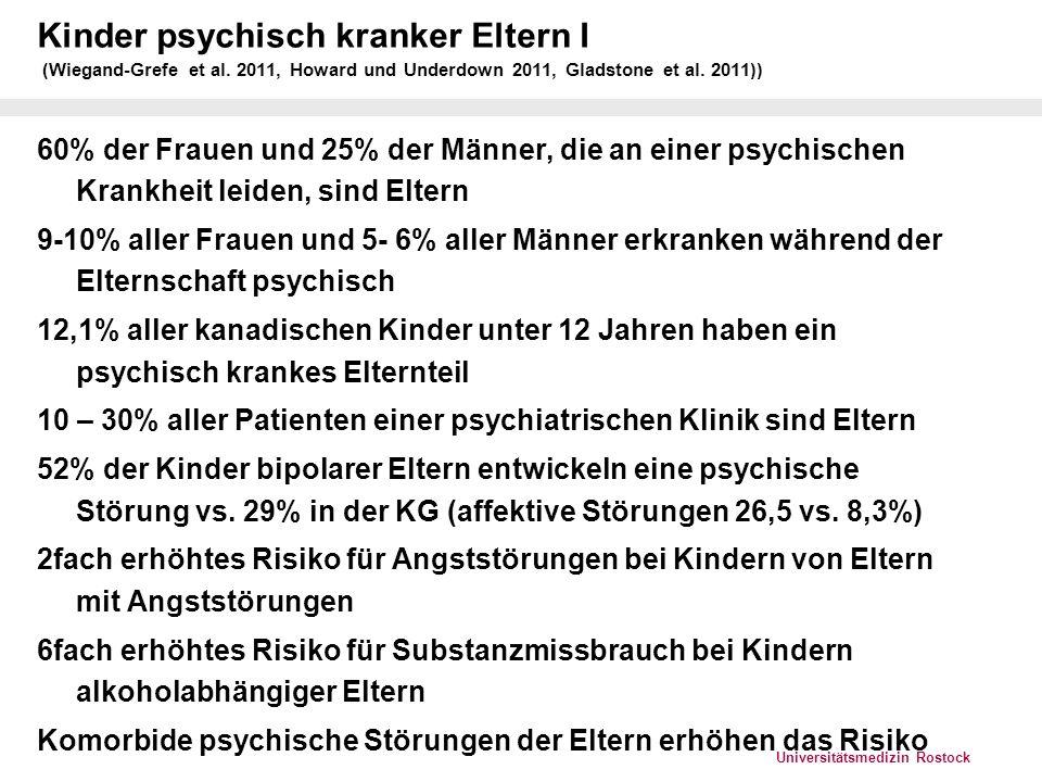 Universitätsmedizin Rostock Kinder psychisch kranker Eltern II (Wiegand-Grefe et al.