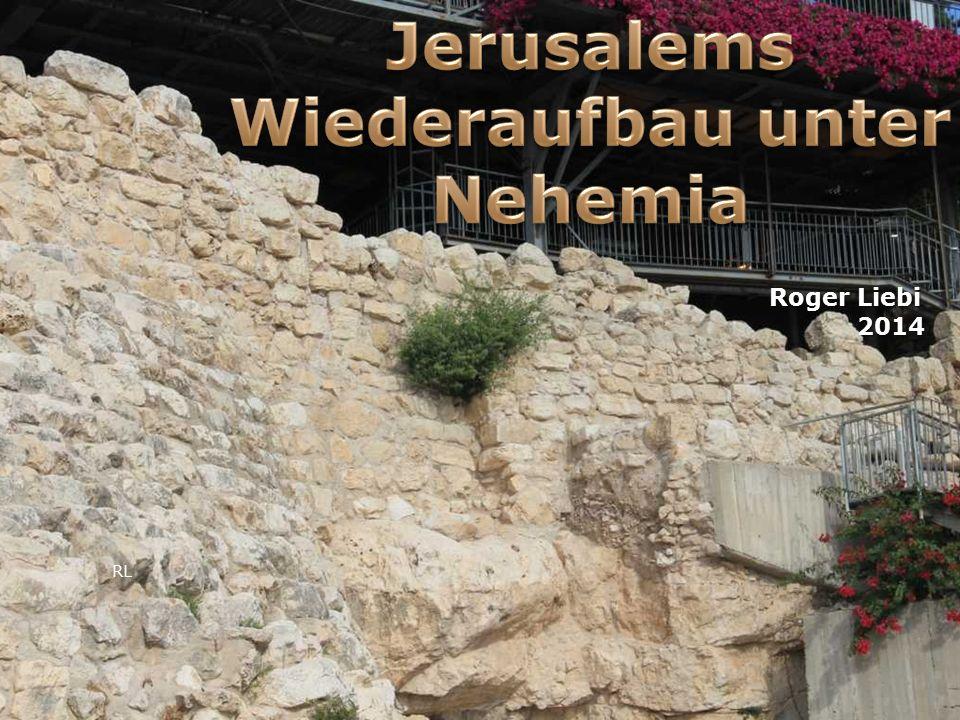 Chronologie 586: Zerstörung Jerusalems (2Chr 36) 586: Zerstörung Jerusalems (2Chr 36) 539: Kores´ Erlass zur Rückkehr (Esra 1) 539: Kores´ Erlass zur Rückkehr (Esra 1) 538: Bau des Altars (Esra 3,3) 538: Bau des Altars (Esra 3,3) 537: Grundlegung des Tempelhauses (Esra 3,8.10) 537: Grundlegung des Tempelhauses (Esra 3,8.10) 522 Baustopp (Esra 4,23-24) 522 Baustopp (Esra 4,23-24) 520 Haggai und Sacharja weissagen (Esra 5,1ff), Edikt des Darius Hystaspis I.