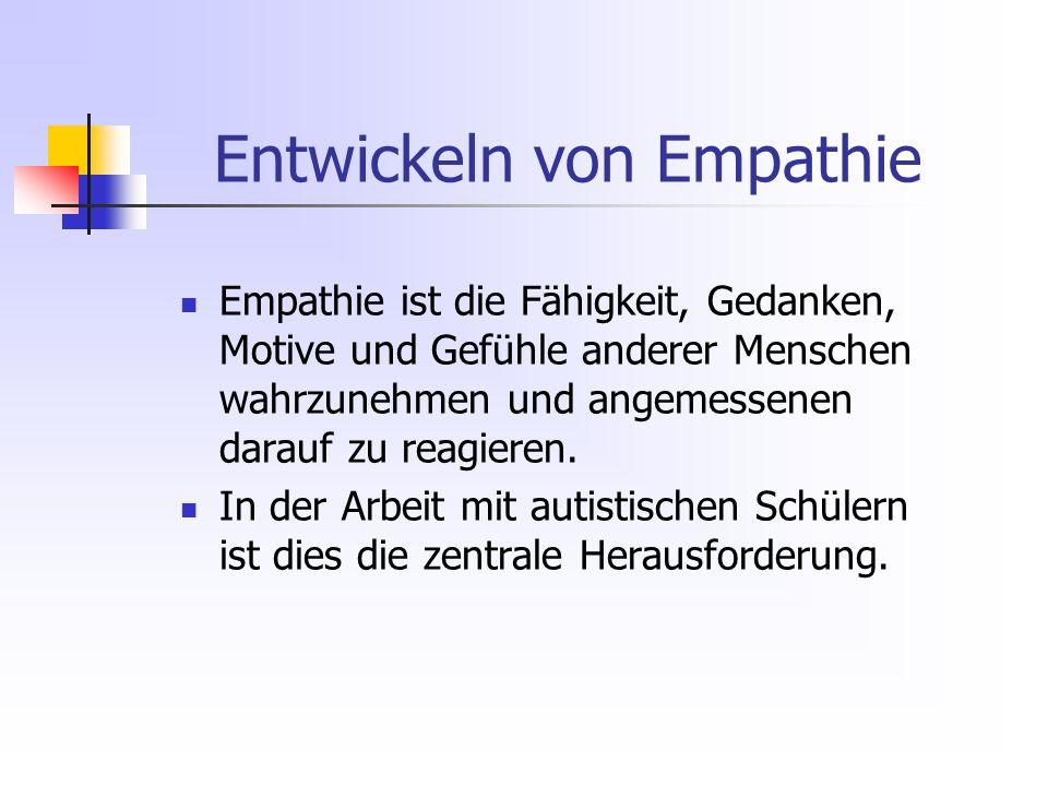 Entwickeln von Empathie Empathie ist die Fähigkeit, Gedanken, Motive und Gefühle anderer Menschen wahrzunehmen und angemessenen darauf zu reagieren.